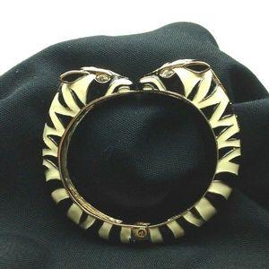 STELLA & DOT Zebra KALAHARI Hinged Clamp Bracelet